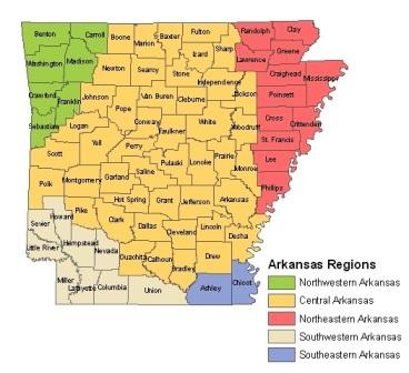 Interesting Facts About The History Of ARKANSAS - Native american tribes arkansas map